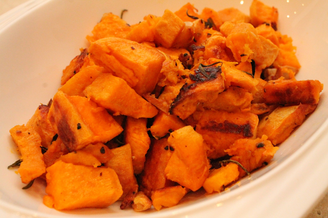 Garlic and Rosemary Roasted Sweet Potato (Paleo, Gluten Free)