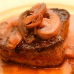 Cast Iron Skillet Seared Eye Fillet/Beef Tenderloin with a Red Wine and Mushroom Sauce (Primal, Gluten-Free)