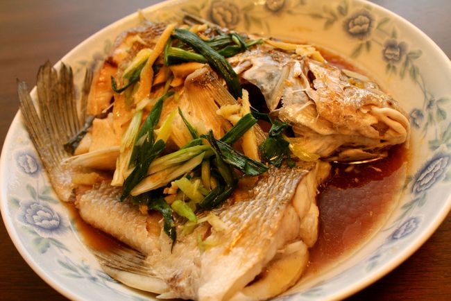 Sake-Steamed Sea Bass With Ginger And Green Onions Recipes ...
