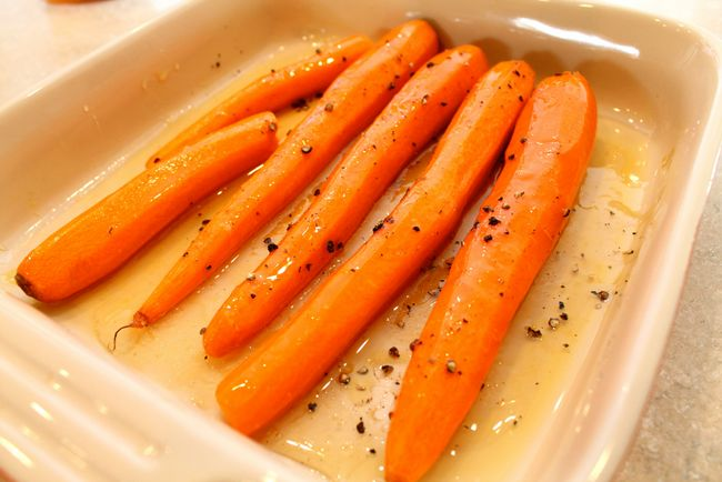 Paleo Roasted Carrots - Ready to go in oven